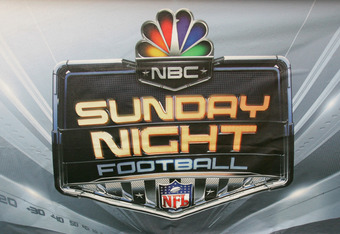 DALLAS - SEPTEMBER 17:  The NBC Sunday Night Football logo is shown during the Washington Redskins game against the Dallas Cowboys at Texas Stadium on September 17, 2006 in Dallas, Texas. The Cowboys defeated the Redskins 27-10.  (Photo by Ronald Martinez