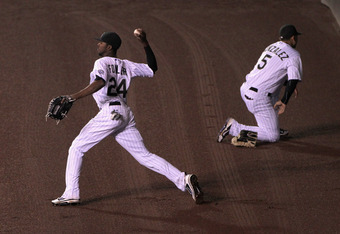 If Jim Tracy can find one home for CarGo he could become an excellent defensive outfielder.