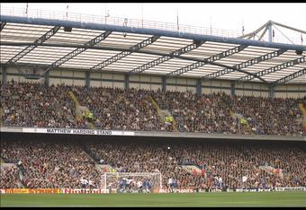 The stand built with Matthew Harding's money, and named in his memory