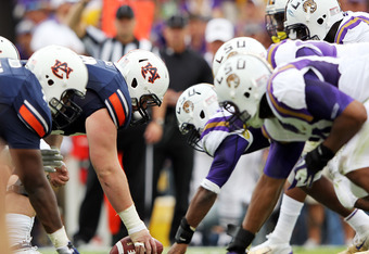 Young Auburn offensive line was unable to stop LSU defensive front