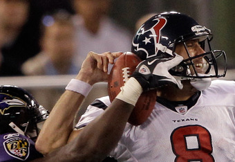 Schaub needs protection if Houston is to Advance