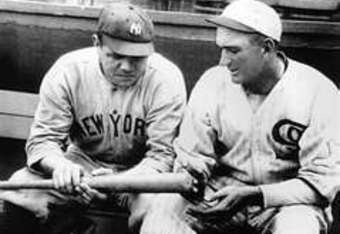 Babe Ruth and Shoeless discuss hitting...what a conversation