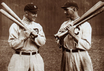 Ty Cobb and Shoeless Joe