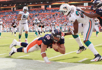 Tebow made plays with his arm and legs Sunday, like always.