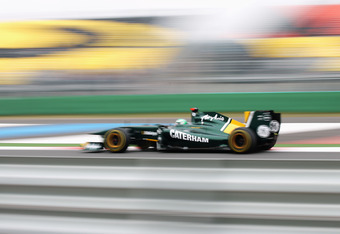 YEONGAM-GUN, SOUTH KOREA - OCTOBER 15:  Heikki Kovalainen of Finland and Team Lotus drives during qualifying for the Korean Formula One Grand Prix at the Korea International Circuit on October 15, 2011 in Yeongam-gun, South Korea.  (Photo by Mark Thompson