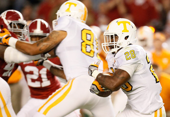Tauren Poole will have to keep the Vols rushing attack going for Tennessee to ahve success vs. South Carolina