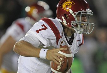 USC's Matt Barkley insinuated that Notre Dame quit in the final minutes of last Saturday night's game.