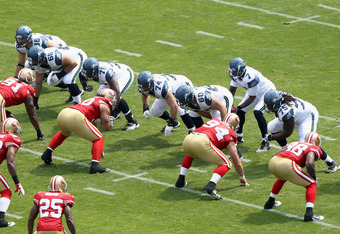 The Seahawks offensive line will likely look much different in Week 16.