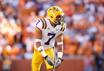 KNOXVILLE, TN - OCTOBER 15:  Tyrann Mathieu #7 of the LSU Tigers against the Tennessee Volunteers at Neyland Stadium on October 15, 2011 in Knoxville, Tennessee.  (Photo by Kevin C. Cox/Getty Images)
