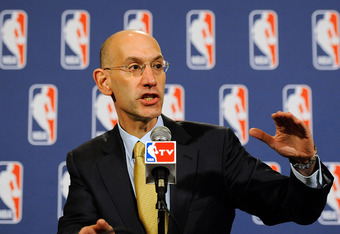 NEW YORK, NY - OCTOBER 20:  Deputy Commissioner Adam Silver speaks at a press conference after the NBA Board of Governors meeting on October 20, 2011 in New York City. Silver announced that NBA Commissioner David Stern will not attend the NBA labor talks