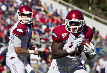 The Hogs running game has shown signs of life in the past two games.