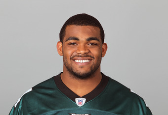 PHILADELPHIA, PA - CIRCA 2011: In this handout image provided by the NFL, Brandon Graham of the Philadelphia Eagles poses for his NFL headshot circa 2011 in Philadelphia, Pennsylvania. (Photo by NFL via Getty Images)