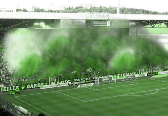 Supporter clubs like ASSE's Green Angels liven the atmosphere in the Derby.