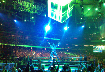Photo of Triple H taken by Micheal Robinson at Wrestlemania 27.