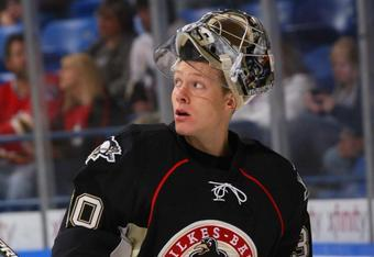Brad Thiessen played over 70 minutes of shutout hockey in last weekend's games.