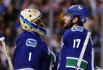 Kesler and Luongo are similar to a couple of Texas Rangers. Will they get over the hump in 2012?