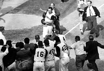 Mazeroski after his historic home run in 1960