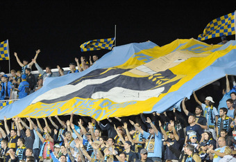 The Doop Army fly the flag