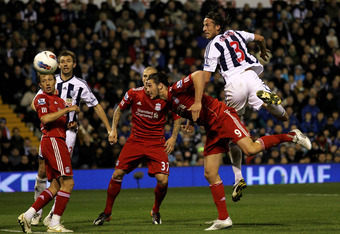 Andy Carroll scored his second Premier League goal of the season in Liverpool's 2-0 victory at West Bromwich Albion on Saturday