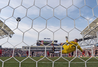 High and right and home: Le Toux scores from the spot v Toronto