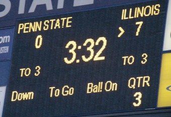 In the third quarter, Illinois was the first to score.  Photo by Carolyn M. Todd.  All Rights Reserved.