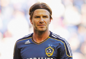 David Beckham helped set up the game-winning goal for Mike Magee in the 15th minute of play.