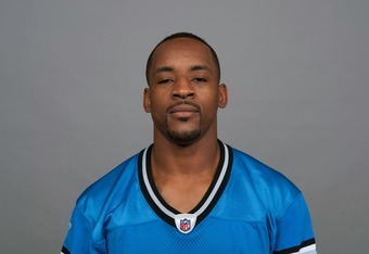DETROIT, MI - CIRCA 2011: In this handout image provided by the NFL,  Rashied Davis of the Detroit Lions poses for his NFL headshot circa 2011 in Detroit, Michigan.  (Photo by NFL via Getty Images)