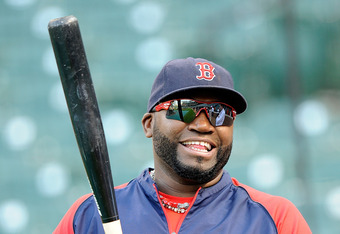 BALTIMORE, MD - SEPTEMBER 28:  David Ortiz #34 of the Boston Red Sox warms up before the game against the Baltimore Orioles at Oriole Park at Camden Yards on September 28, 2011 in Baltimore, Maryland.  (Photo by Greg Fiume/Getty Images)