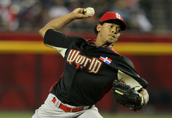 With a fastball that can hit the upper-90s, Carlos Martinez is one of the Cardinals' brightest pitching prospects.