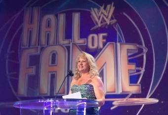 Richter being inducted into the WWE Hall of Fame