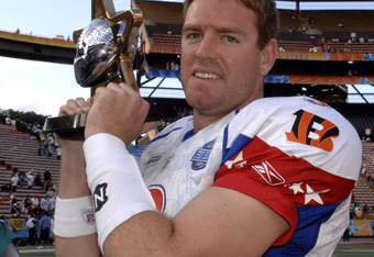 Palmer poses for photographers following the 2007 Pro Bowl.