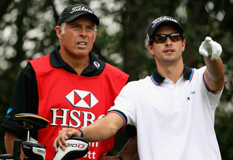 Adam Scott & Caddy Steve Williams