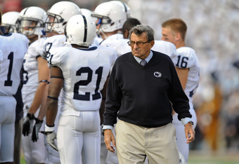 the embattled Joe Paterno and his Penn State football team