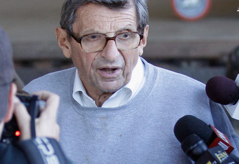 It's a shame that this will be the lasting image of Joe Paterno