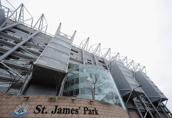 NEWCASTLE, ENGLAND - MARCH 05:  A general view of St. James' Park, home of Newcastle United Football Club on March 5, 2011 in Newcastle, England.  (Photo by Jamie McDonald/Getty Images)