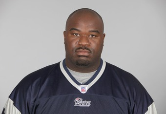 FOXBOROUGH, MA - CIRCA 2011: In this handout image provided by the NFL,  Albert Haynesworth of the New England Patriots poses for his NFL headshot circa 2011 in Foxborough, Massachusetts. (Photo by NFL via Getty Images)