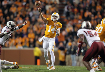 Can Justin Worley lead the Vols to a victory against Arkansas?