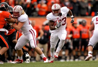 Stanford's running game is as good as their passing game.