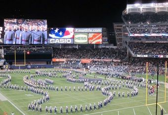 ND and Army at Yankee Stadium in 2010 (K. Kraetzer)