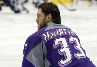 Steve MacIntyre was also sent to Wilkes-Barre in a busy week of player movement.