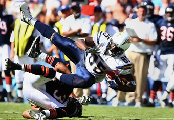 Antonio Gates playing against the Bears in 2007