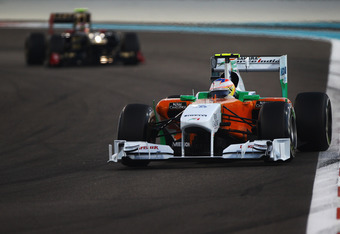 Saffron, White and Green - Force India flying the flag