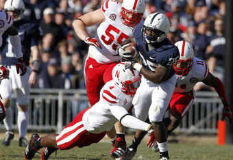 STATE COLLEGE, PA - NOVEMBER 12:  Silas Redd #25 of the Penn State Nittany Lions carries the ball against the Nebraska Cornhuskers during the game on November 12, 2011 at Beaver Stadium in State College, Pennsylvania.  (Photo by Justin K. Aller/Getty Imag