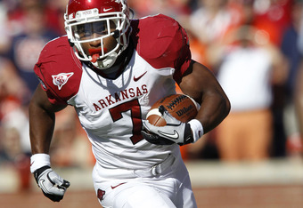 A 1,300 yard rusher will be on Arkansas' bench for the rest of the season.