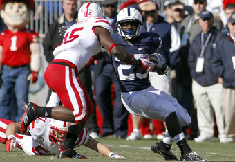 STATE COLLEGE, PA - NOVEMBER 12: Silas Redd #25 of the Penn State Nittany Lions carries the ball against the Nebraska Cornhuskers during the game on November 12, 2011 at Beaver Stadium in State College, Pennsylvania. (Photo by Justin K. Aller/Getty Images