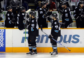 Marc-Edouard Vlasic had a career night tallying 4 points (1 goal, 3 assists)