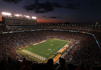 KNOXVILLE, TN - OCTOBER 29:  South Carolina Gamecocks during the game against the Tennessee Volunteers at Neyland Stadium on October 29, 2011 in Knoxville, Tennessee.  (Photo by Andy Lyons/Getty Images)