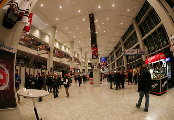 A concourse at Prudential Center in Newark, New Jersey.