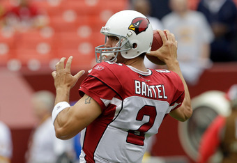 Richard Bartel took control of the Cardinals offense in the fourth quarter and secured the Cardinals' only points on a 23-yard touchdown pass to Larry Fitzgerald.