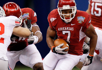 Will Arkansas star RB Knile Davis make his return in time for an upset of No. 1 LSU?